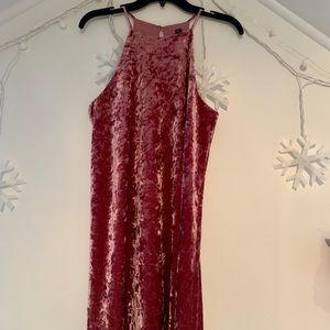 Mauve Velvet Dress